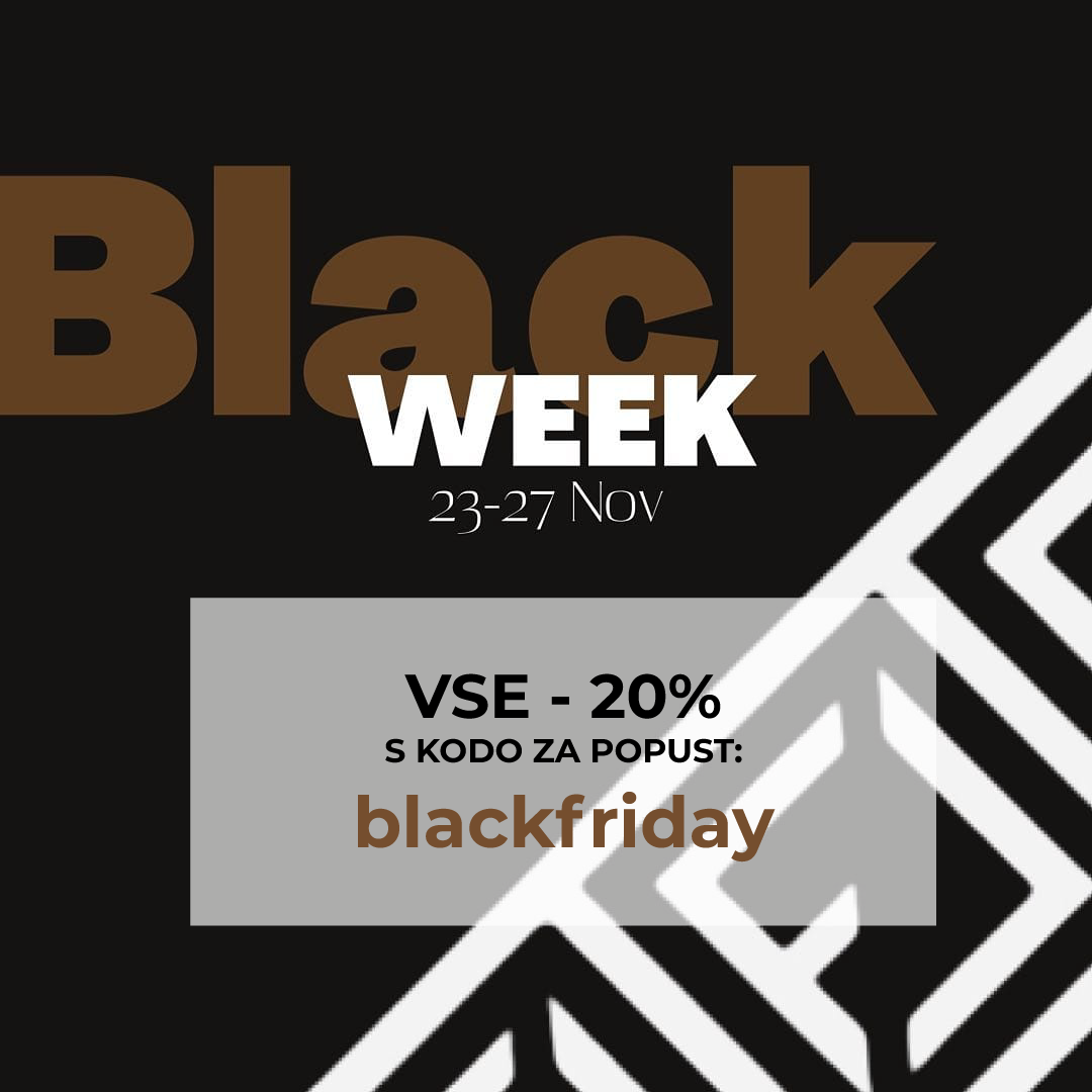 Black friday akcija, vse - 20%